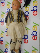 *VINTAGE* European styled Sawdust Doll-Painted Face-Unknown year- Unknown Brand