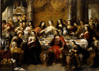 "oil painting on canvas""The wedding at Cana, Jesus blesses the water""@N10994"