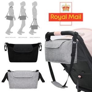 Baby Pushchair Organiser Mummy Bag Storage Buggy Pram Stroller Clips Cup Holder