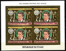 TCHAD 1983 Echecs Bobby Fischer Rotary Gold Foil Or Michel 1029 aA  64 euros