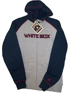 Chicago WHITE SOX MLB COOPERSTOWN MAJESTIC GREY JACKET with Hood Women's Small