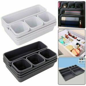 8 X Schubladen Schreibtisch Organizer Aufbewahrung Box Schmuck Behälter Korb DHL