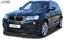 RDX Spoilerlippe für BMW X3 F25 BIS Bj. 2014 M-tech Front Ansatz Schwert Lippe