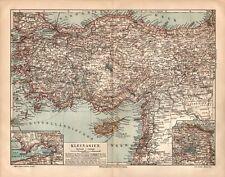 KLEINASIEN Türkei Kurdistan Armenien  Zypern historische LANDKARTE um 1900