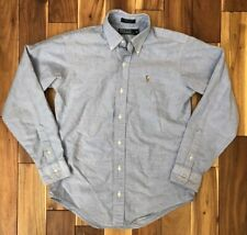 Polo Ralph Lauren Boys Long Sleeve Button Down Oxford Shirt Size 16 Made In USA