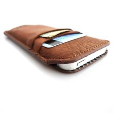 genuine vintage leather case for iphone SE 5 5c 5s book wallet cover handmade id