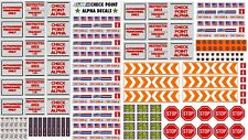 GI JOE CHECK POINT ALPHA DECALS FOR 3.75 SCALE PLAYSET