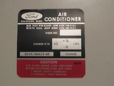1972 1973 LINCOLN CONTINENTAL TOWN CAR MARK IV AIR CONDITIONING COMPRESSOR DECAL