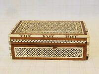 Wood Inlay Dresser Vanity Trinket Jewelry Box