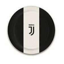 Piatti Carta Juventus JJ  23 cm, Arredo Festa Juve Calcio PS 14057