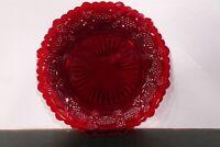 "Vintage Avon 1876 Cape Cod Ruby Red Plate / 7 1/4"" L x 7 1/4"" H x 3/4"" D"