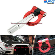 Racing Sport Style Red T2 CNC Aluminum Screw Tow Hook for Lancer EVO X 10 MR GSR