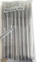 Original Bic Round Stic Black Ink Pens Ball Point Medium Biro Pen 8 Pack Arts