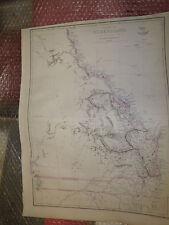 Queensland Australia Ci 1863 Weekly Dispatch Atlas E.Weller 31x43 cmFramed20more