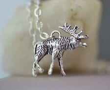 NM009 Moose Necklace, Elk, Cute, Antlers, Sam (Supernatural)
