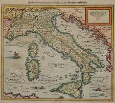 Italia mit dreyen fürnemesten Inseln..- Sebastian Münster 1580 - Italien -Selten