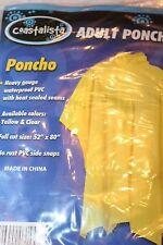 Coastalista Adult Heavy Gauge Waterproof PVC Poncho - Clear