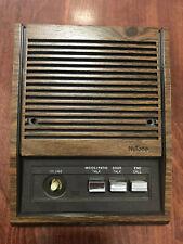"NuTone woodgrain 5"" 3 Button Intercom speaker"