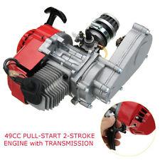 2 Stroke 49cc Engine Pull Start Transmission For Mini Moto Pocket Quad Dirt Bike