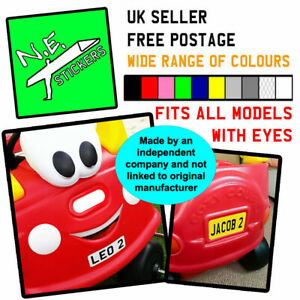Private number plate stickers TO FIT Little Tikes COZY COUPE Ride On Kids car