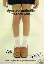 Publicité advertising 1980 Les Chaussures pour enfants Eram