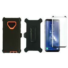 For Samsung Galaxy Note 9 Defender Case w/Screen&Clip fits Otterbox Black Orange