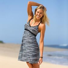 NWT Athleta Printed Shorebreak Dress, Black SIZE XS    #984279 v712