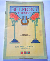 Vintage art deco Belmont Theater NY booklet brochure 40 pages color photos, ads!