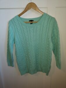 H&M Mint Green Cable Knit Jumper Sixe Large