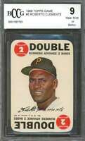 Roberto Clemente Card 1968 Topps Game #6 Pittsburgh Pirates BGS BCCG 9