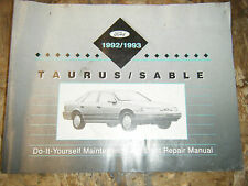 1992-93 FORD TAURUS MERCURY SABLE ORIGINAL FACTORY DO IT YOURSELF MANUAL SERVICE