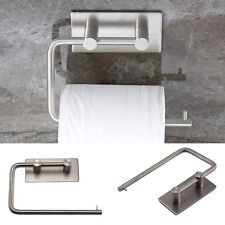 Polished Stainless Steel Toilet Roll Holder Self Adhesive Stick On Wall Pad Hold