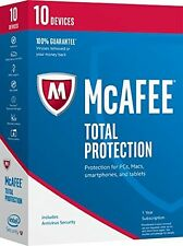 *NEW* McAfee Total Protection 2017 10 PCs 1 Year SEALED Software FREE SHIPPING