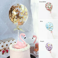 1PC Colorful Latex Ballons With Ribbon Wedding Birthday Party Decor Cake Toppers
