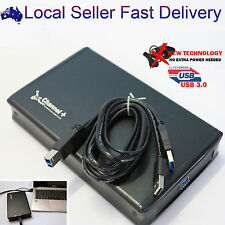 """USB 3.0 to 3.5"""" Inch SATA III HDD External Enclosure Case Box Power-Free Adapter"""