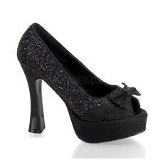 Pleaser Satin Platforms & Wedges Heels for Women