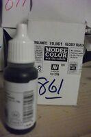 MODEL HOBBY PAINT 17ml BOTTLE VAL861  AV Vallejo Model Color - Gloss Black
