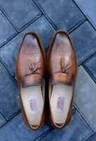 Men's Handmade Brogues Tasseled Loafers Casual Formal Party Calf Leather Shoes