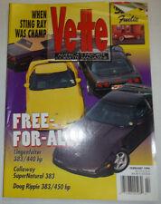 Vette Magazine Lingenfelter Callaway Super Natural February 1996 031215R