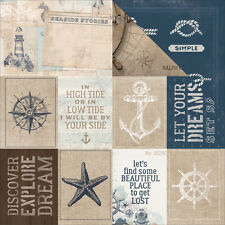 Kaiser Craft High Tide 12 X  12 inches Cardstock Paper Set Sail