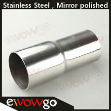 """51mm (2"""") to 63mm (2.5"""") Stainless Steel Flared Exhaust Reducer Connector Pipe"""