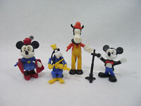 Lot 4 Figurine montable KINDER vintage 70's 80's DISNEY Mickey/Minnie/Dingo/...