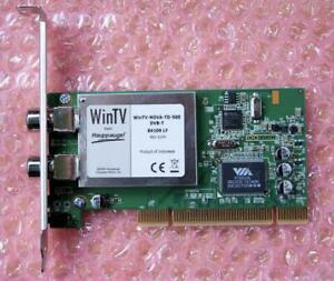 WinTV-NOVA-TD-500 DVB-T 84109 LF TV Tuner Card PCI Very Good Condition