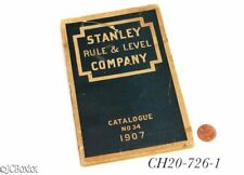 1907 original catalog STANLEY TOOLS 34 planes chisels rulers other