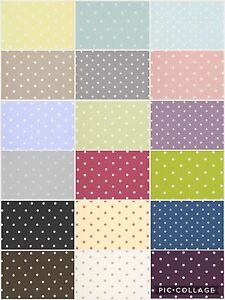 Clarke and Clarke. DOTTY Cotton Fabric for Curtains/ Upholstery/Craft/Cushions