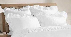 1 Pair Edge Ruffle Pillow Shams All Size & Color 800 TC Egyptian cotton