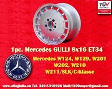 1 Cerchio Mercedes Gulli 8x16 ET34 W124 129 201 203 208 210 Felge TÜV wheel