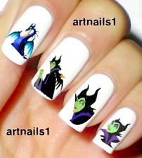 Maleficent Villain Disney Nail Art Dragon Water Decals Stickers Manicure Salon
