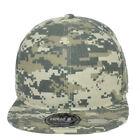 Blank Digital Camouflage Constructed Flat Bill Snapback Hat Cap Plain Solid Camo