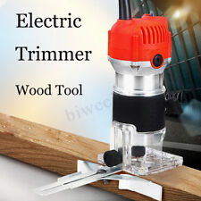 """800W 0.25"""" 30000RPM Electric Hand Trimmer Wood Laminate Palm Router  Work Tool"""